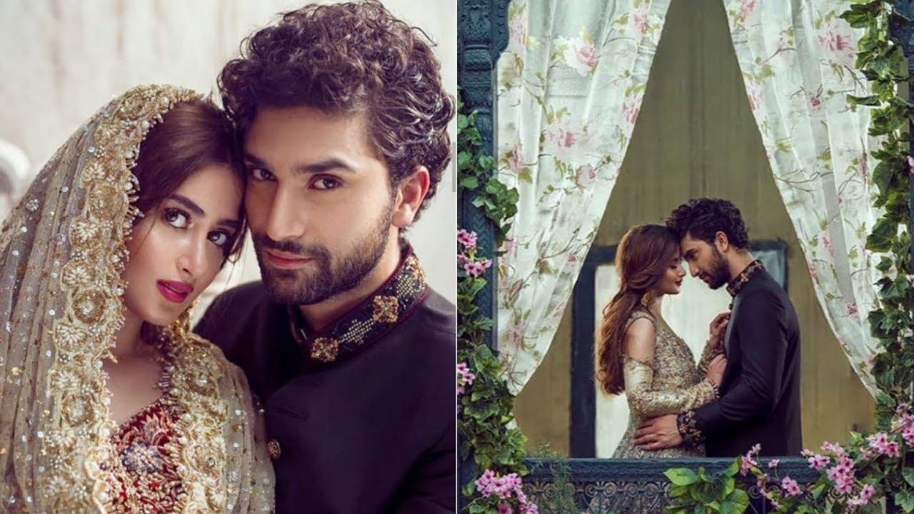 Marriage pics of Sajal Ali: Sajal Ali with husband Ahad Raza Mir